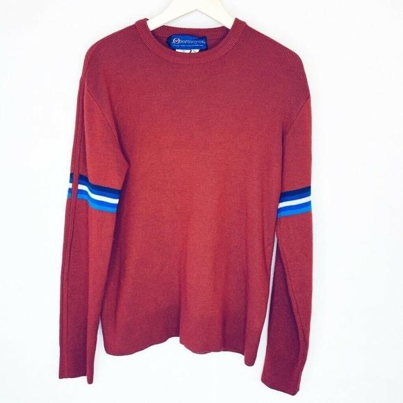 Obermeyer Vtg Yale Pullover Sweater Burgundy XL